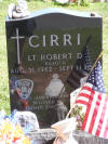 Lt. Robert Cirri memorial stone