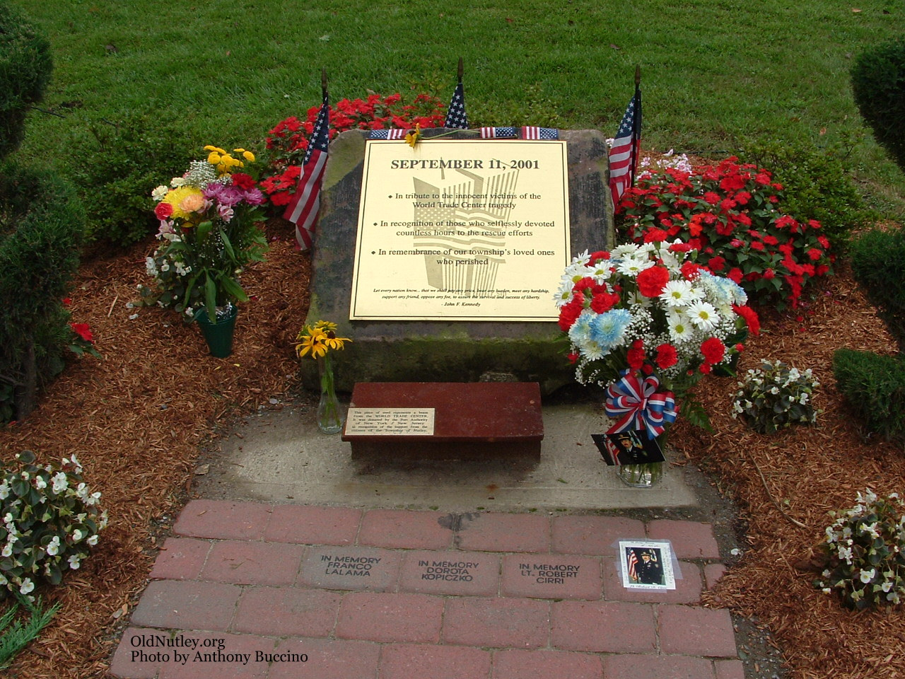 Nutley 911 Memorial, Photo Copyright 2004 � Anthony Buccino, All Rights Reserved