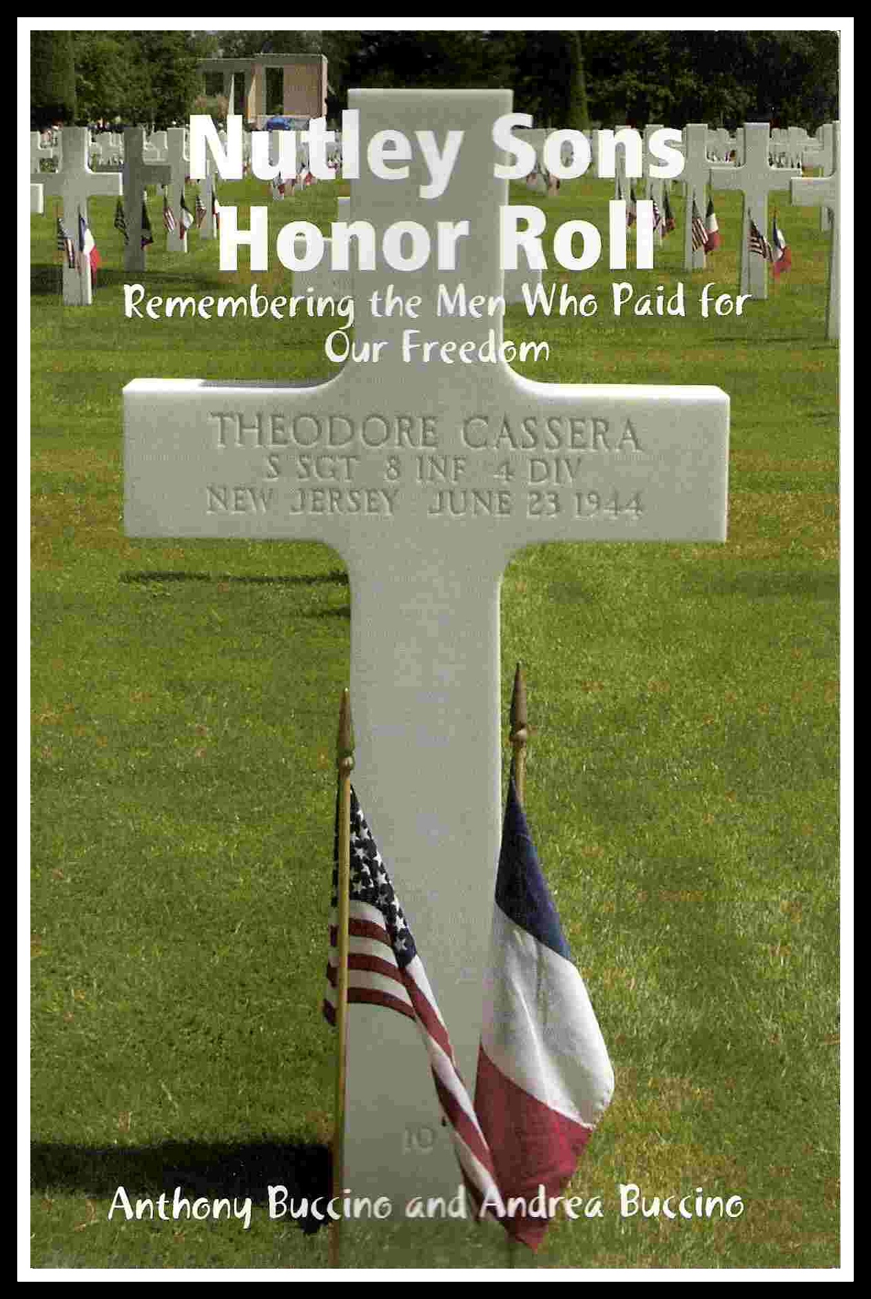 Nutley NJ Sons Honor Roll- remembering the men who paid for our freedom